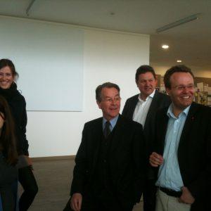 Folkes  mit Franz Müntefering in der Alanus-Hochschule